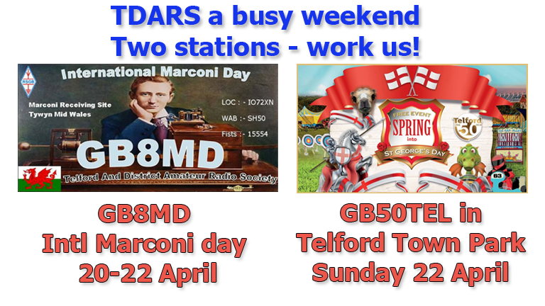 Marconi and Spring St georges day in Telford town park April 2018web copy | TDARS training