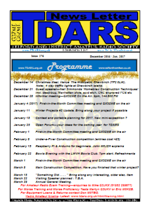 graphic showing mini version of TDARS newsletter