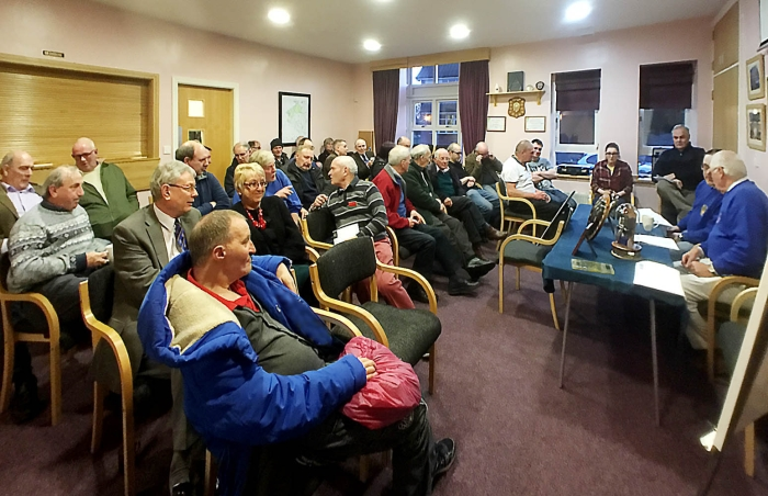 A photo from a previous TDARS meeting at Little Wenlock Village Hall