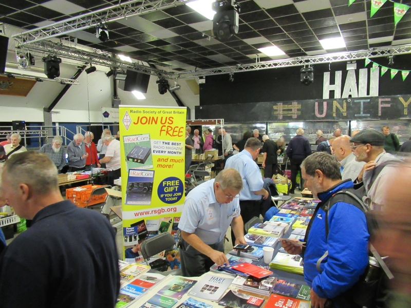 TDARS Telford Hamfest a view across the main room September 2019